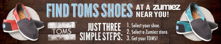 Toms Shoes Available Instore Only