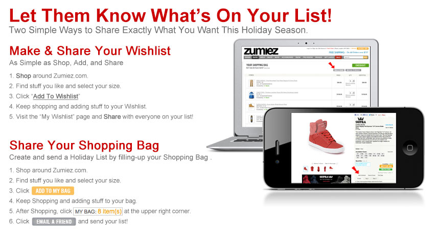Make A List - Zumiez 2011 Holiday Gift Guide