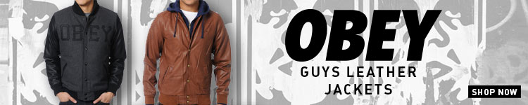 Obey Guys Leather Jackets