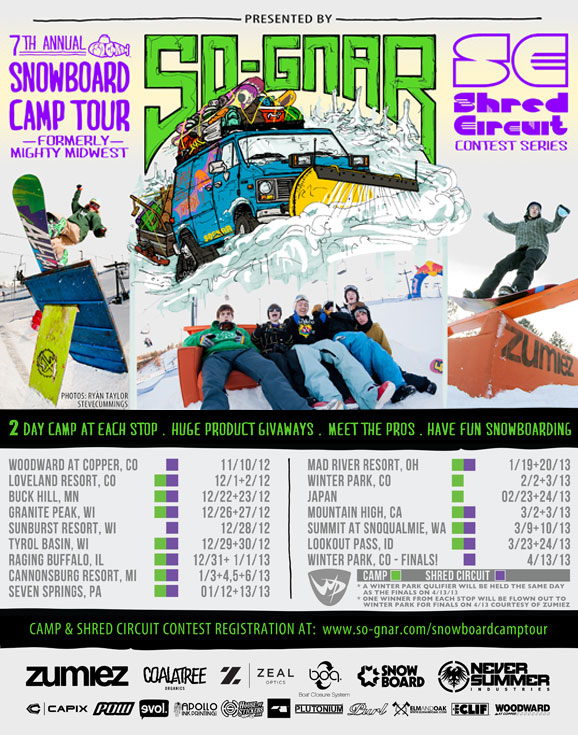 So-Gnar Camp Tour