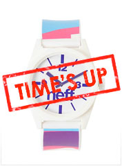 Neff Daily White, Pink & Blue Camo Analog Watch