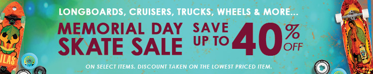 Memorial Day Skate Sale - Save Up To 40%