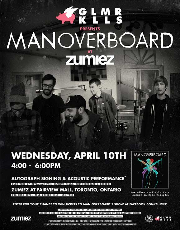 Glamour Kills presents Man Overboard at Zumiez