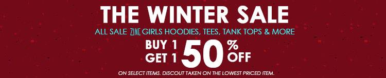 Sale Zine Girls Hoodies, Tees, Tank Tops & More Buy 1 Get 1 50 Off