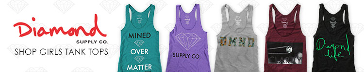 Diamond Supply Girls Tank Tops