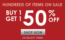 Buy 1 Get 1 50% Off Sale