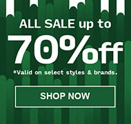 All sale up to 70% off on select styles and brands.