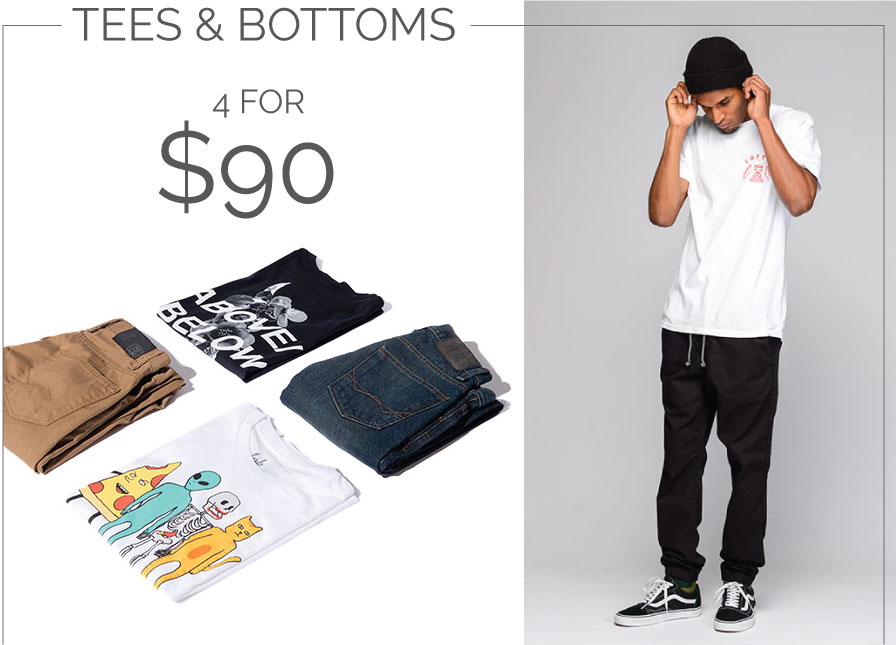 Tees & Bottoms - 4 for $90
