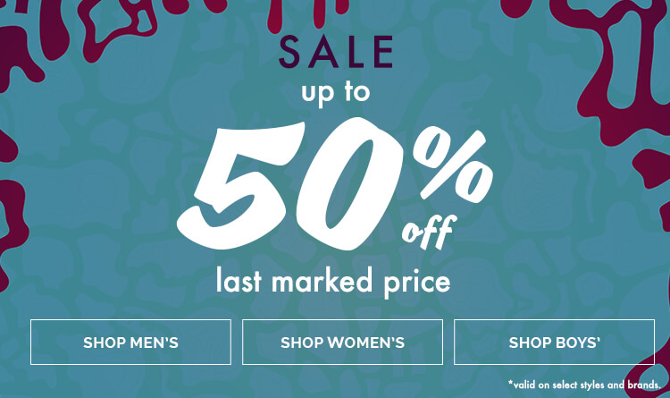 Up to 50% Off Last Marked Price