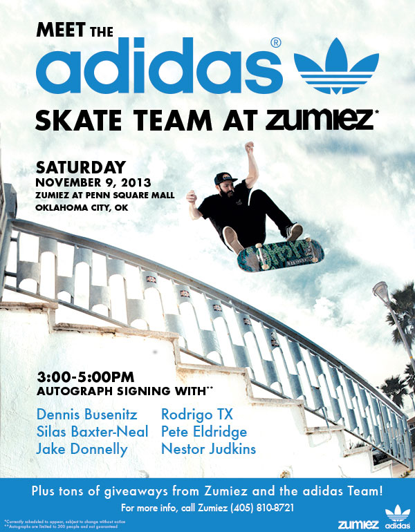 THE ADIDAS SKATE TEAM AT ZUMIEZ