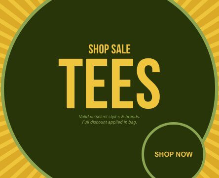 Sale t-shirts for men with an assortment of deals and discounts on top brands and styles.