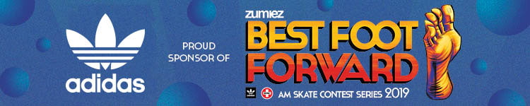 adidas Proud Sponsor of Zumiez Best Foot Forward Skate Contest Series 2019