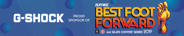 G-Shock Proud Sponsor of Zumiez Best Foot Forward Skate Contest Series 2019