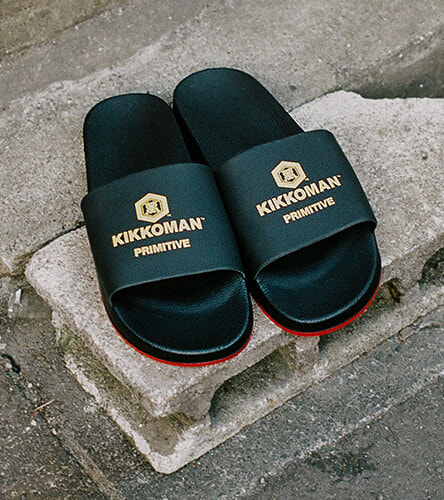 Sandals and slides for around the house, or at the beach. Featuring the Primitive and Kikkoman collection slides are a super comfortable sandal.