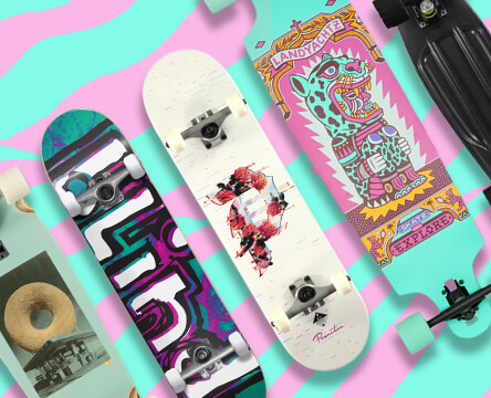Complete skateboards including longboards, cruisers, and street completes that are ready to ride upon arrival.