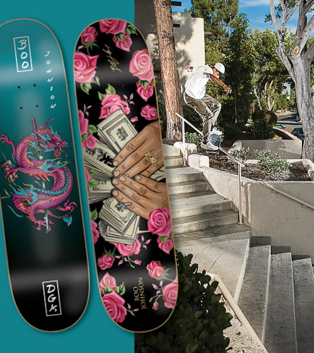 Check out our large selection of skateboard decks, featuring a variety of sizes and constructions from top brands like DGK.