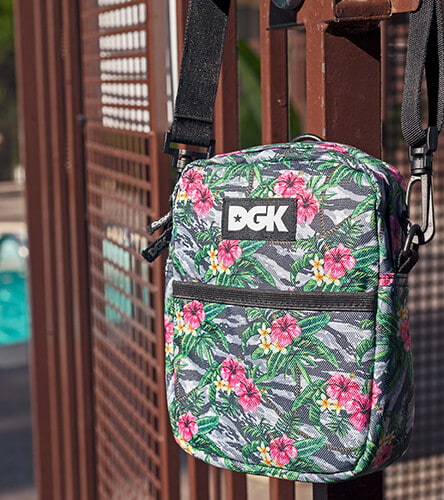 Sling bags and fanny packs featuring the Floral DGK shoulder bag.