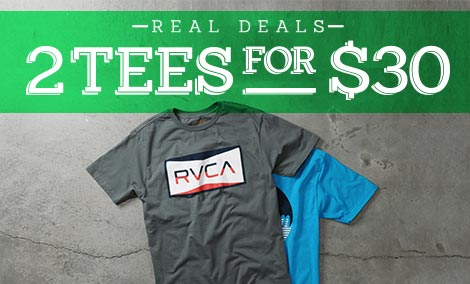 Men's Real Deals - 2 Tees for $30
