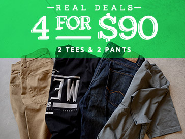 Men's 4 for $90 Deal