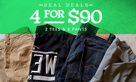 Men's Real Deals - 4 for $90