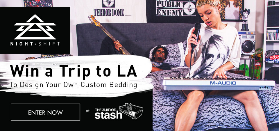 Enter to Win a Trip to LA to design your own Custom Bedding with Night : Shift