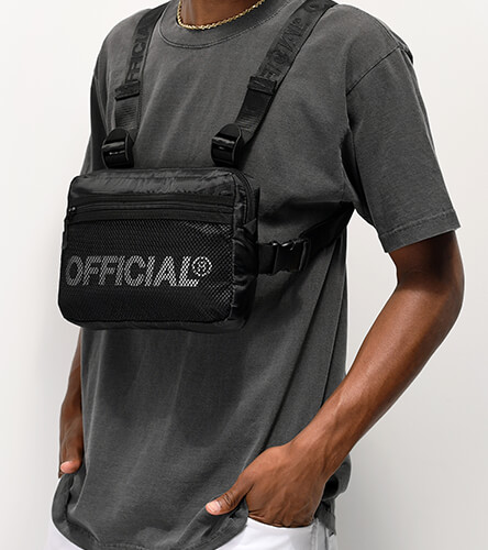 Fanny packs, Sling bags, or hip bags featuring the black bag from The Official Brand.