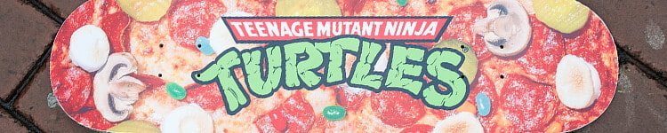 Teenage Mutant Ninja Turtles and Santa Cruz collection featuring skateboards, tees, hooded sweatshirts and more.