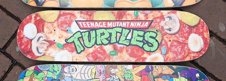 799a3c95203 Teenage Mutant Ninja Turtles and Santa Cruz collection featuring  skateboards, tees, hooded sweatshirts and