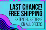 Last chance for free shipping! Extended Returns on all orders.