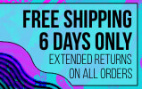 Free Shipping over $39.95 and Extended Returns on all orders