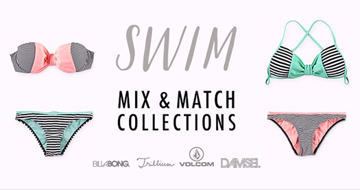 Womens Mix and Save Swimwear