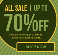Shop all sale up to 70% off on select styles and brands of clothing, shoes and accessories. Full discount applied in bag.