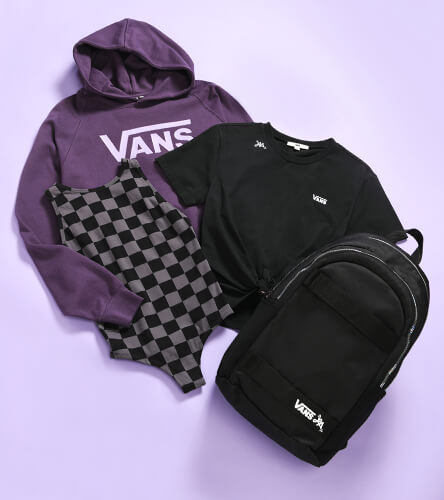 Check out the latest shoes, clothing and accessories from Vans, featuring the new drop of the Lizzie Armanto collection.