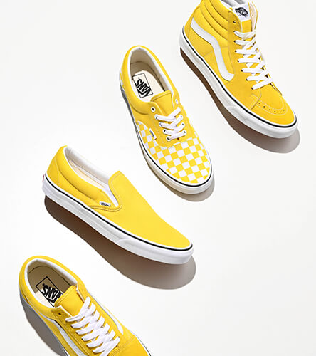 ede2f49794c All Vans shoes, featuring the new vibrant yellow pack. Choose from a Slip-