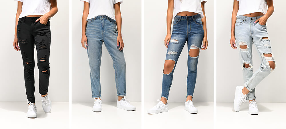 ae21f10a45e Denim Styles Shop women's denim, with a range of fits, including skinny  jeans, Mom jeans
