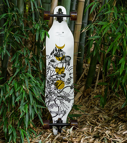 Longboard completes featuring the Arbor Bamboo series come ready to ride just about anything.