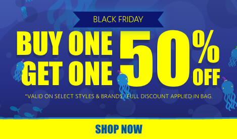 Buy one get one 50% off on select items and styles. Full discount applied in bag. Shop now.