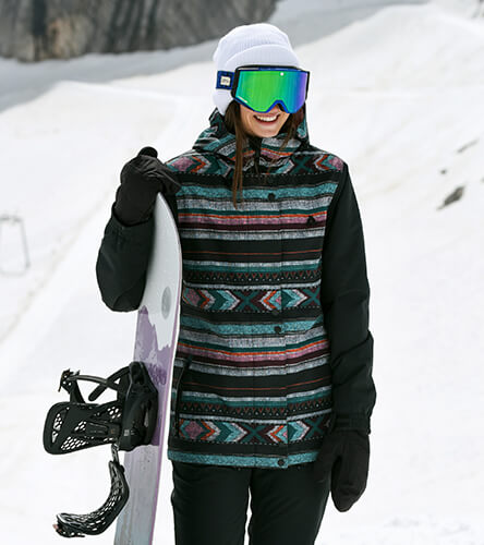 Shop women's snow outerwear, featuring jackets, pants, bibs and fleece from top snowboard brands.