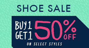 Buy 1 Get 1 50% off - Select Styles