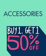 Shop All Buy 1 Get 1 50% Off Accessories