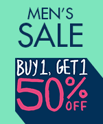 Shop All Men's Buy 1 Get 1 50% Off
