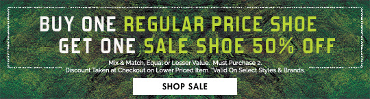 50% Off Any Sale Shoe When You Buy A Regular Price Shoe