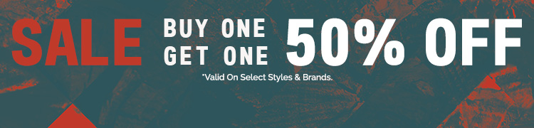 Buy One, Get One 50% Off. Valid on select styles & brands.