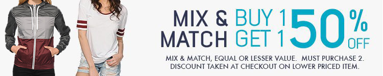 Womens Mix and Match - Buy 1 Get 1 50% off on Zine
