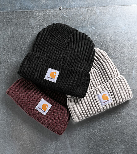 Shop all beanies, featuring new seasonal colors from Carhartt.