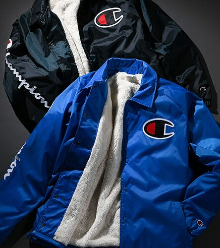 Sherpa lined jackets featuring Champion