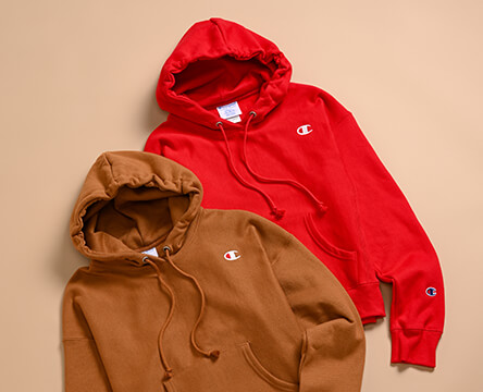 Shop women's Champion, featuring new fall colors in reverse weave hoodies, plus more styles.