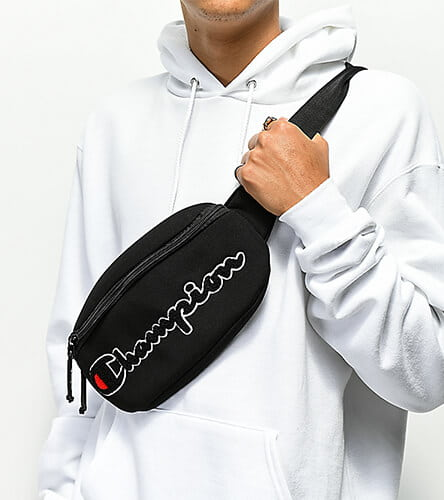 Fannypacks featuring Champion and more top brands.