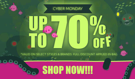 Cyber Monday Sale where you can save up to 70% off on select sale styles and brands