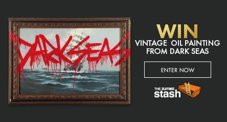 Use points to enter for a chance to win a Vintage Dark Seas Nautical Oil Painting
